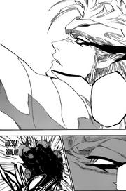 Grimmjow destruye el corazon de Askin