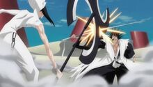 Nnoitra se enfrenta a Kenpachi