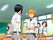 O15 Ichigo zaprasza Uryu na obiad w obecności Keigo i Mizuiro