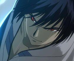 Kenji Hiroshi's red eyes