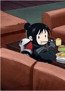 Akahana eating
