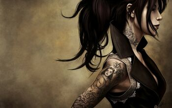 Tattoos women animated artwork kat von d 1680x1050 wallpaper www.wallpaperfo.com 26