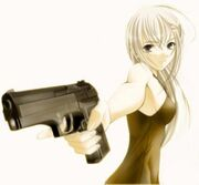T anime girl with gun 170