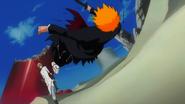 Tesra kicks Ichigo away