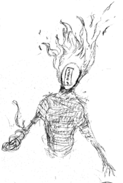 Fire demon LINE