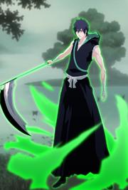 Dyan Arashi wielding Zangetsu upon regaining his powers