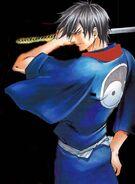 Kenji blue kimono