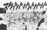 Akujin fighting with his Zanpakutou