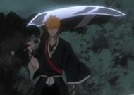 Ichigo holding Zangetsu