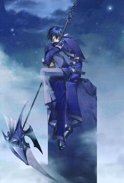 Anime guy scythe