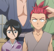 Young Renji with Rukia