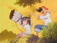 Ururu and jinta attacking bount mansion