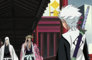 Hitsugaya approached by Kyoraku and Ukitake