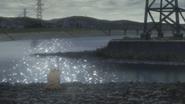 Hitsugaya awakens near a lake