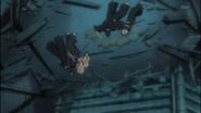 The Shinigami collapse due to Ashisogi Jizo's poison