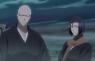 230Ikkaku and Yumichika stand in