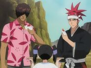 Ururu offering chad and renji cake