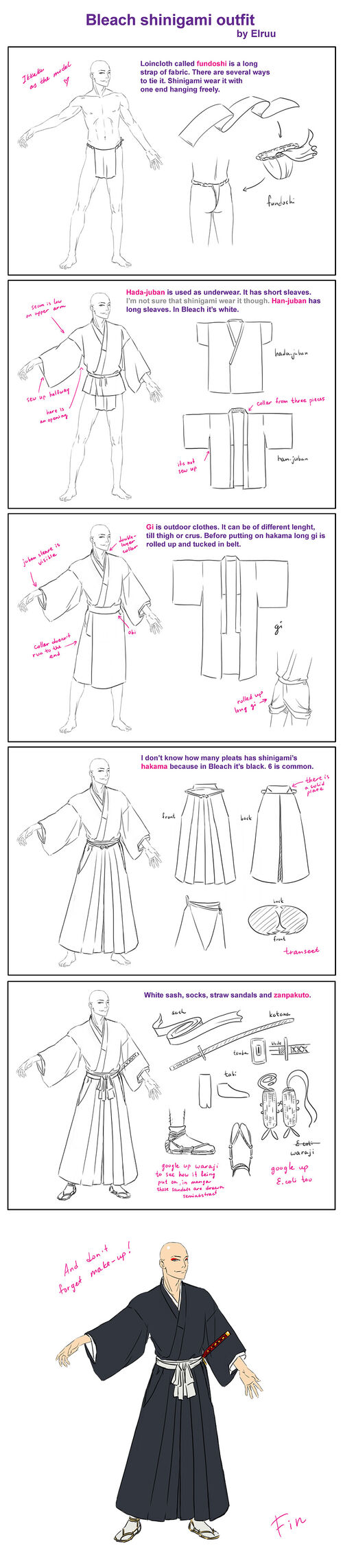 Bleach shinigami outfit by elruu