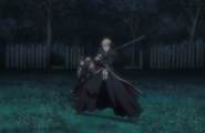 Ichigo protects Momo and Rangiku