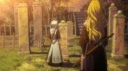 Hitsugaya and matsumoto at kusaka's grave
