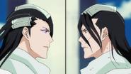 Ep327 - Byakuya & Reigai Byakuya face each other
