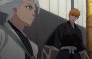 257Ichigo asks Hitsugaya what is going on