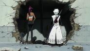 Yoruichi and Hitsugaya converse