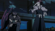 Renji arrives to assist Sado