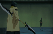 Yoruichi appears before Inaba