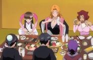 265Tobiume, Rangiku, Haineko, Katen Kyokotsu, Nanao, and Momo sit