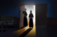 Renji and Rukia enter Byakuya's office