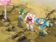 Ririn, Noba, and Kurōdo see Ichigo, Sado, and Uryū off
