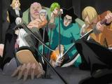 Vizards pin Hollow Ichigo to ground