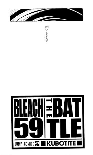 Bleach volume 59 poem