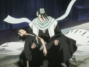 Byakuya fängt Rukia