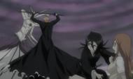 Rukia beschützt Orihime vor Muramasa