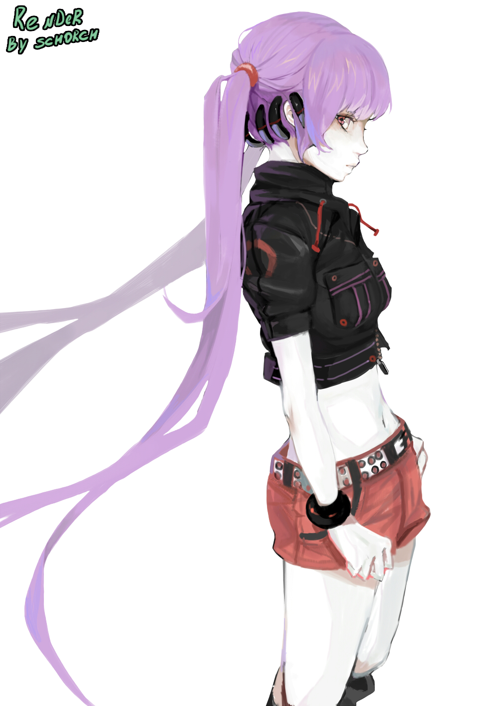Anime girl purple hair render by schorch2812 d821xxe png