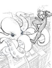 Superhero and buildings by bleedman-d3gd81g