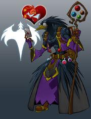 Edgar the raven by dragonman32