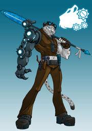 Rachet the snow leopard by dragonman32