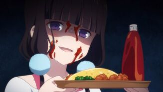 Maika with Omelette Rice