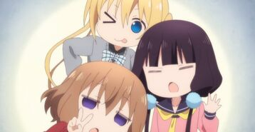 Mayfuyu,Kaho,and Maika with silly faces