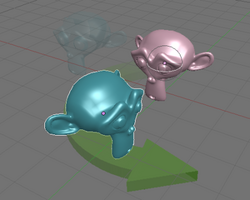 Pivot rotating active object (no select)
