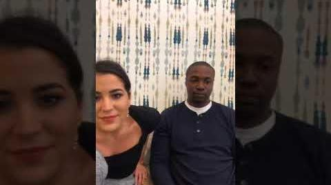 Audrey Esparza and Rob Brown are LIVE talking all things Blindspot