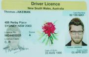 Fake driver licence tom