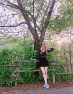 Lisa by a tree on Instagram 3