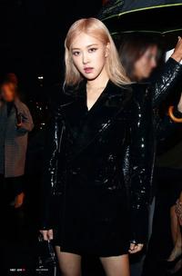 Rosé at YSL Saint Laurent Paris Fashion Week 2019