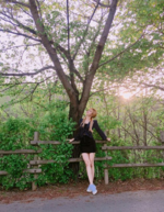 Lisa by a tree on Instagram 2
