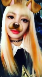 Lisa using the dog filter 2