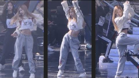 181014 블랙핑크 (BLACKPINK) FOREVER YOUNG 사복리허설(Rehearsal) 로제 ROSE 직캠 Fancam (BBQ콘서트) by Mera
